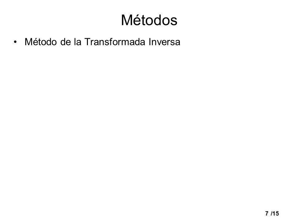 7/15 Métodos Método de la Transformada Inversa