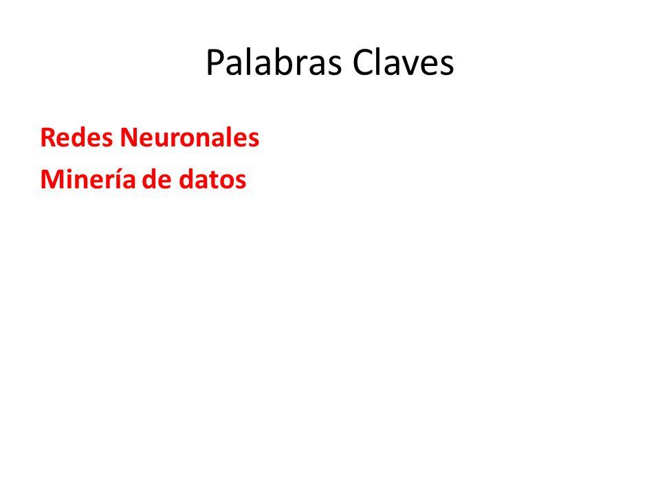 Palabras Claves Redes Neuronales Minería de datos