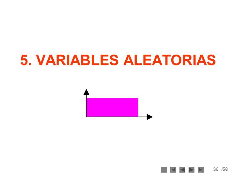 36/58 5. VARIABLES ALEATORIAS