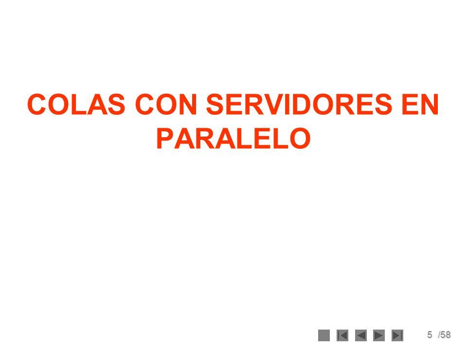 5/58 COLAS CON SERVIDORES EN PARALELO