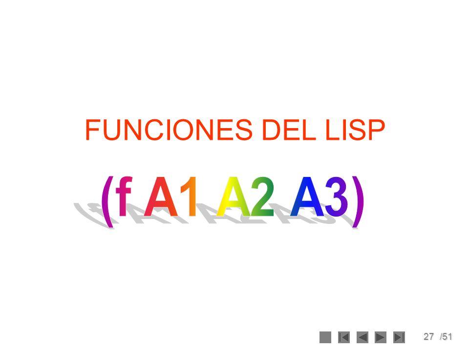 27/51 FUNCIONES DEL LISP