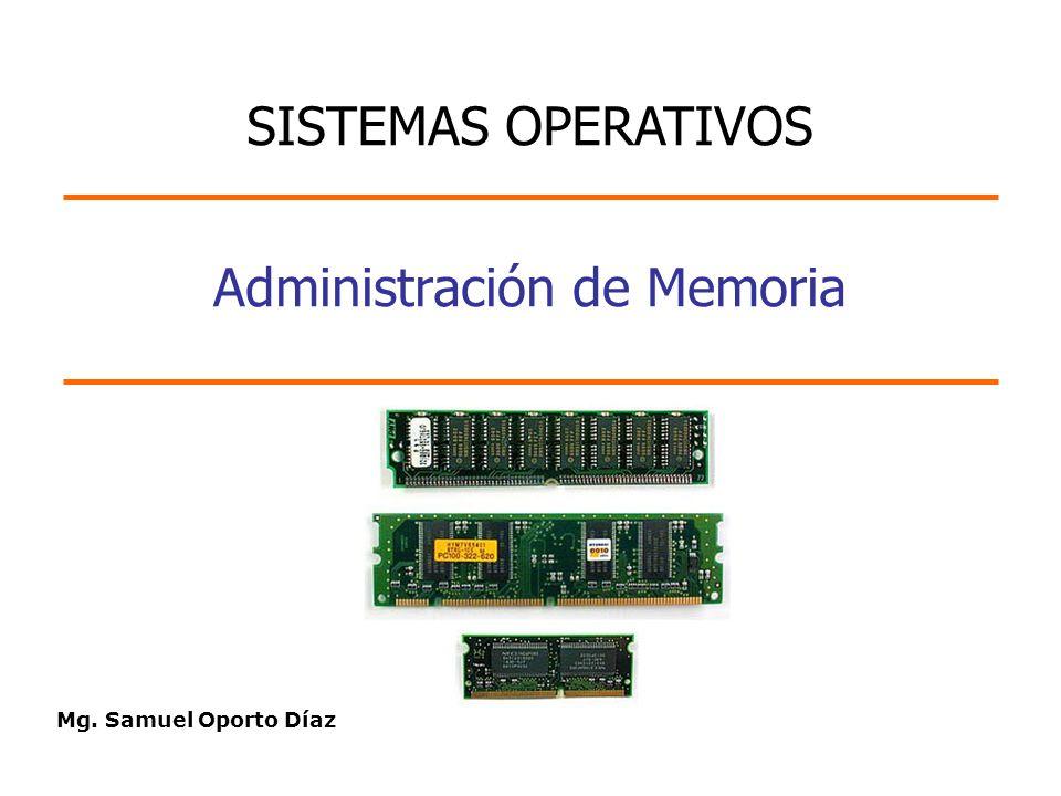Mg. Samuel Oporto Díaz Administración de Memoria SISTEMAS OPERATIVOS