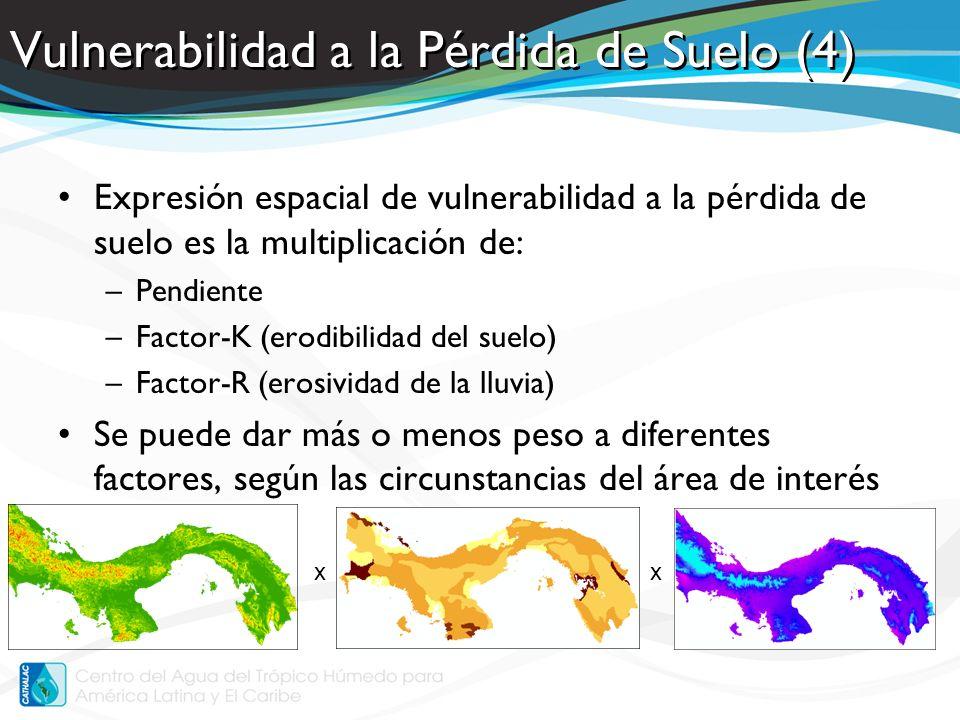 Áreas inundables Selección de ciertas características de un DEM –Spatial Analyst / Extraction / Extract by Attributes Selección de una zona de amortiguamiento de los ríos –Analysis Tools / Proximity / Buffer