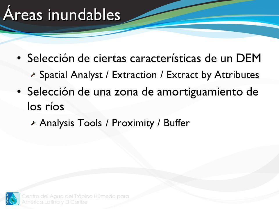 Vulnerabilidad a la Pérdida de Suelo Resumir la vulnerabilidad por cuenca, o dentro cualquier polígono –Datos continuos –Estadísticas zonal