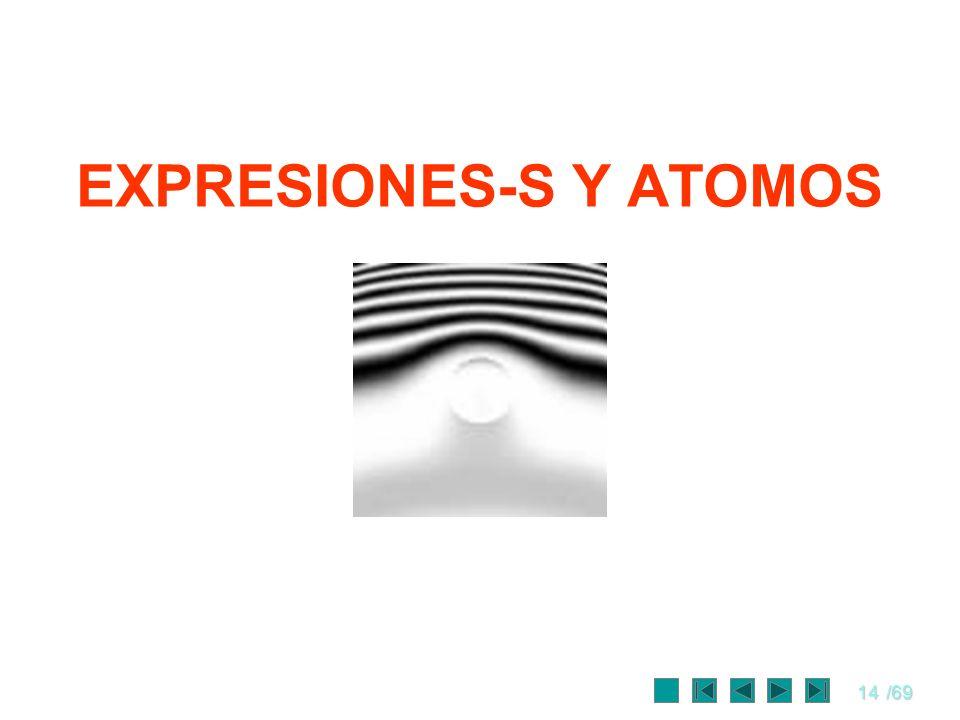 14/69 EXPRESIONES-S Y ATOMOS