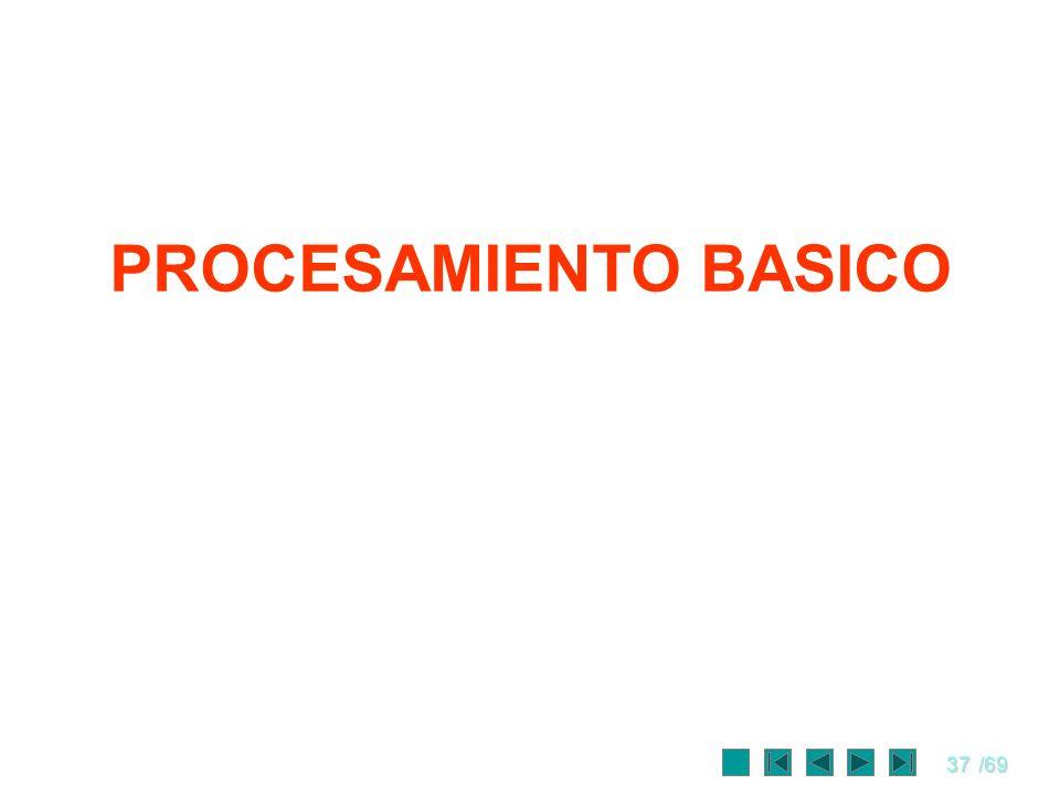 37/69 PROCESAMIENTO BASICO