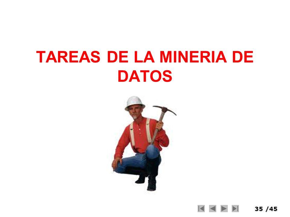 35/45 TAREAS DE LA MINERIA DE DATOS