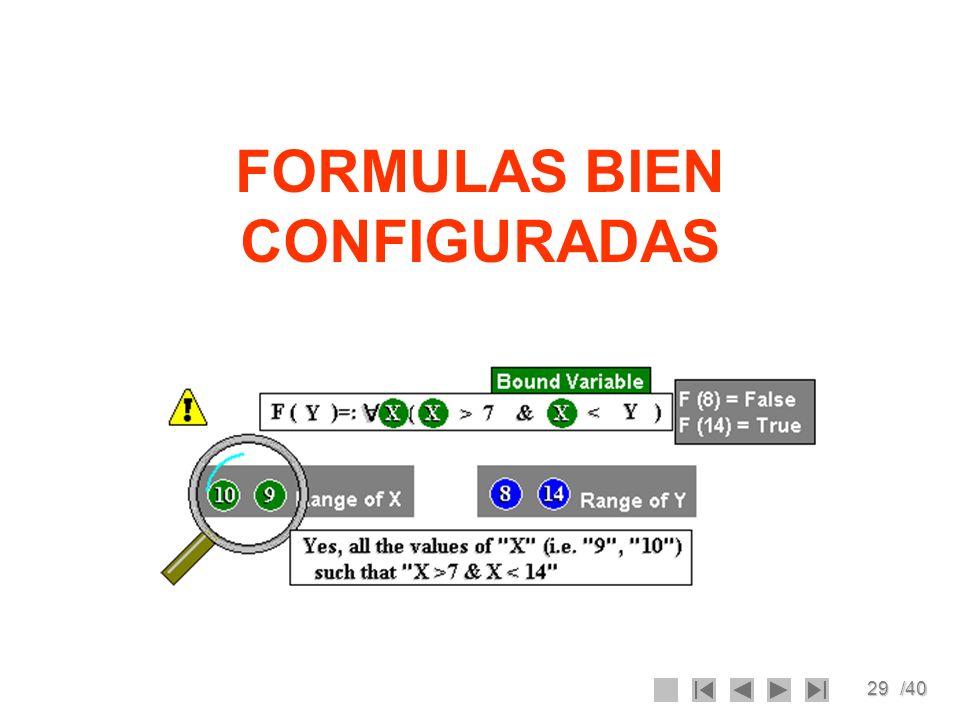 29/40 FORMULAS BIEN CONFIGURADAS