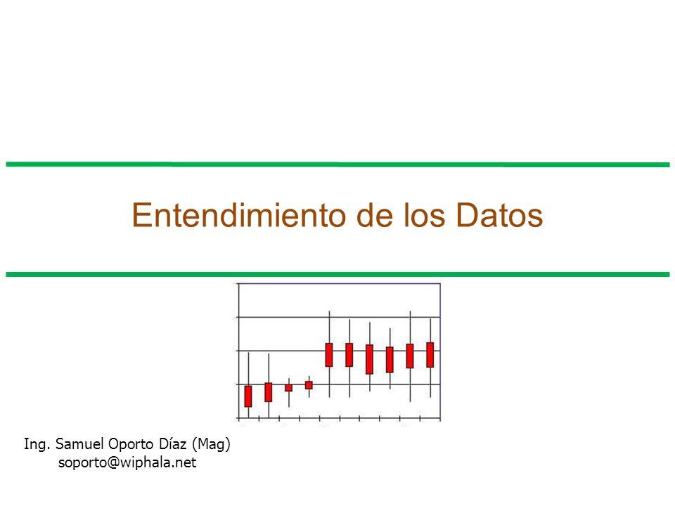 Entendimiento de los Datos Ing. Samuel Oporto Díaz (Mag) soporto@wiphala.net