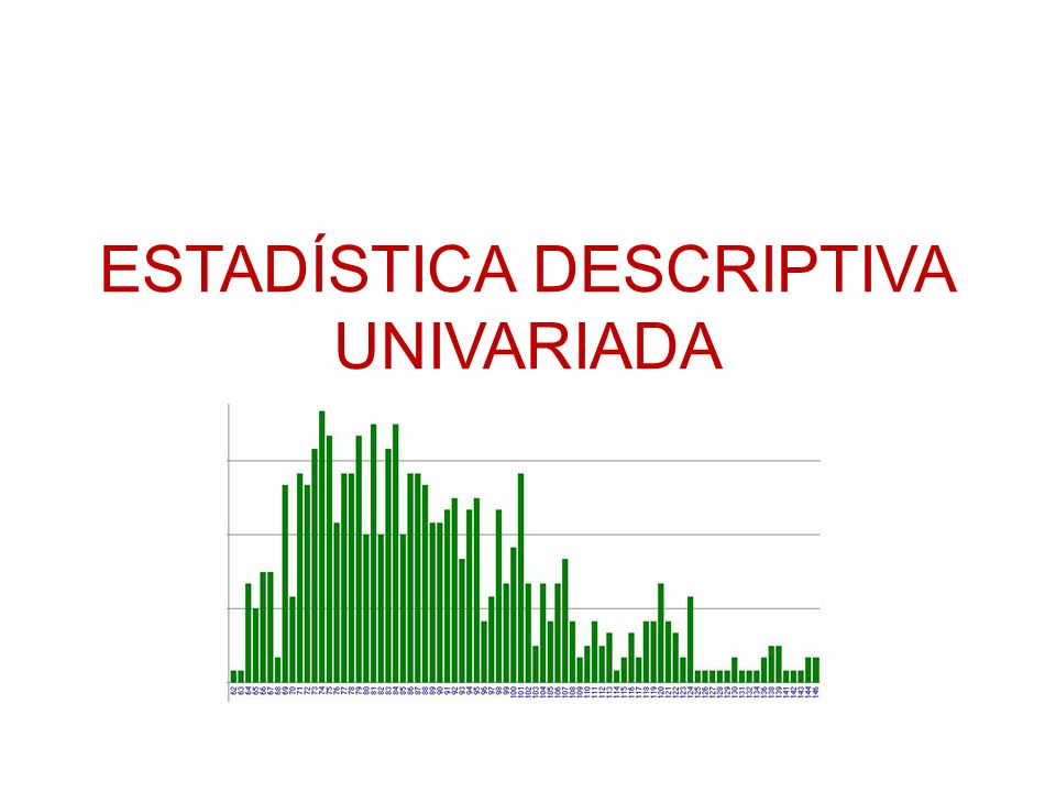 ESTADÍSTICA DESCRIPTIVA UNIVARIADA