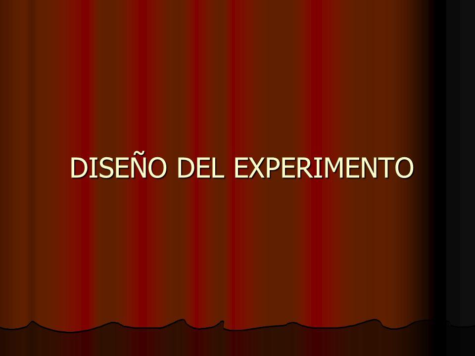 DISEÑO DEL EXPERIMENTO