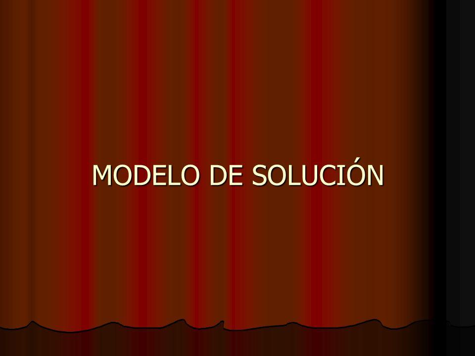MODELO DE SOLUCIÓN