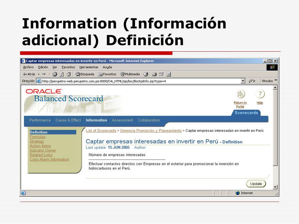 Information (Información adicional) Definición