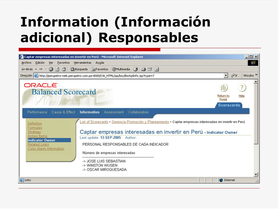 Information (Información adicional) Responsables