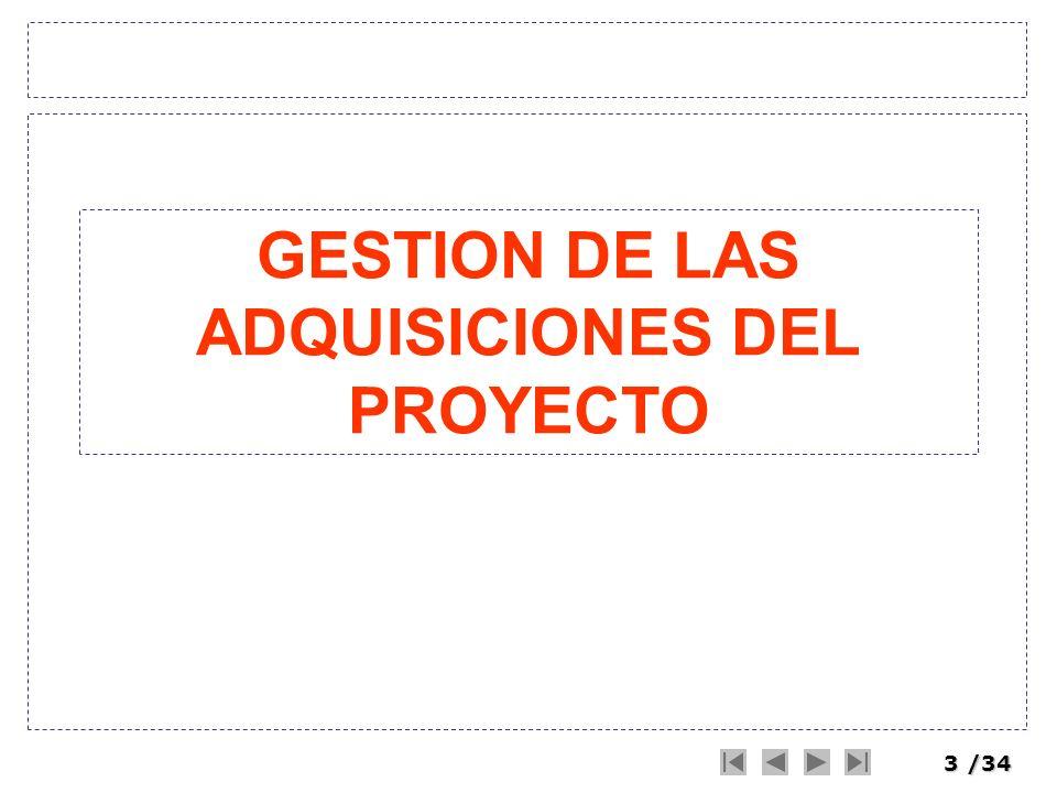 3/34 GESTION DE LAS ADQUISICIONES DEL PROYECTO