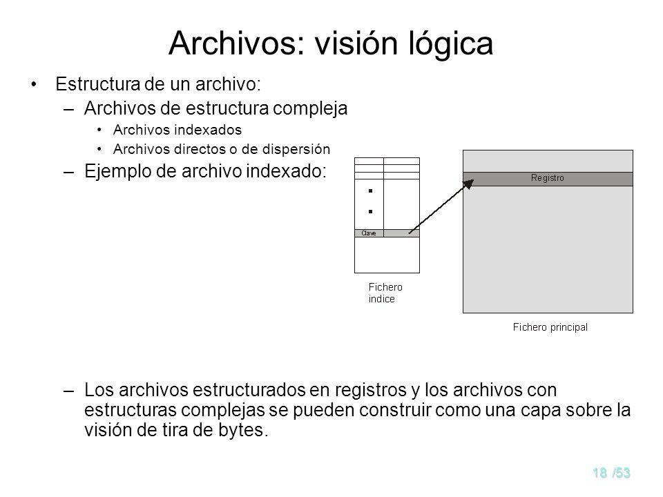 17/53 Distintas estructuras lógicas