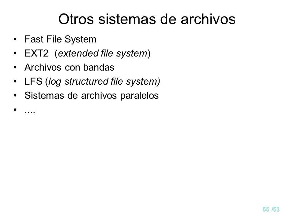 54/53 Superbloque de sistemas de archivos en LINUX