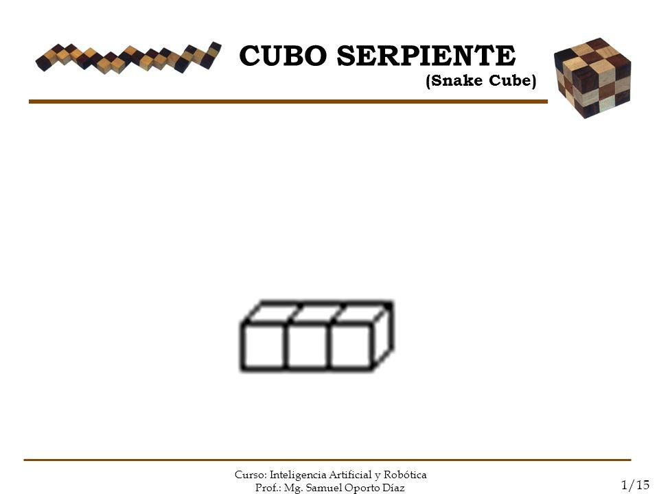 CUBO SERPIENTE (Snake Cube) Curso: Inteligencia Artificial y Robótica Prof.: Mg. Samuel Oporto Díaz 1/15