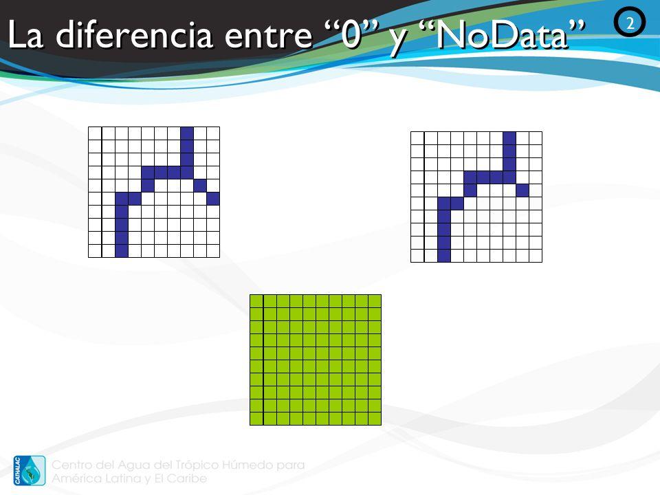 La diferencia entre 0 y NoData O 2