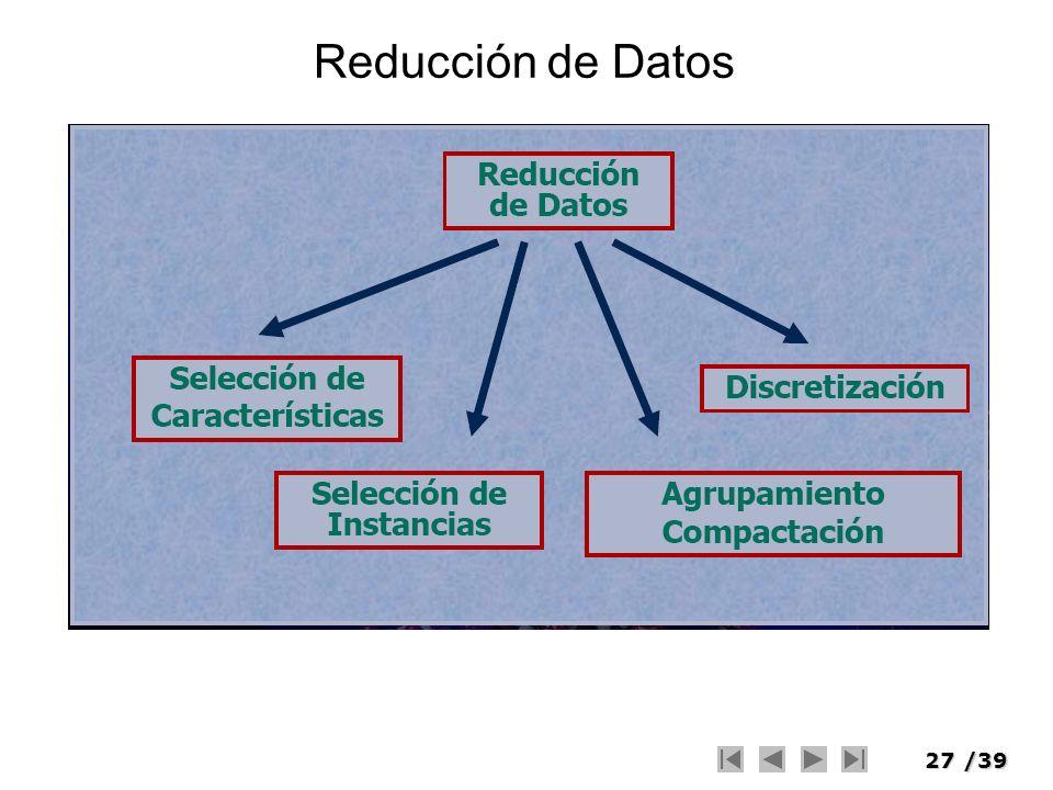 27/39 Reducción de Datos