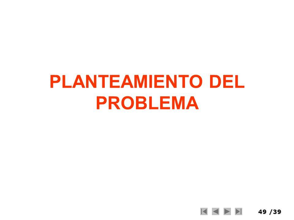 49/39 PLANTEAMIENTO DEL PROBLEMA