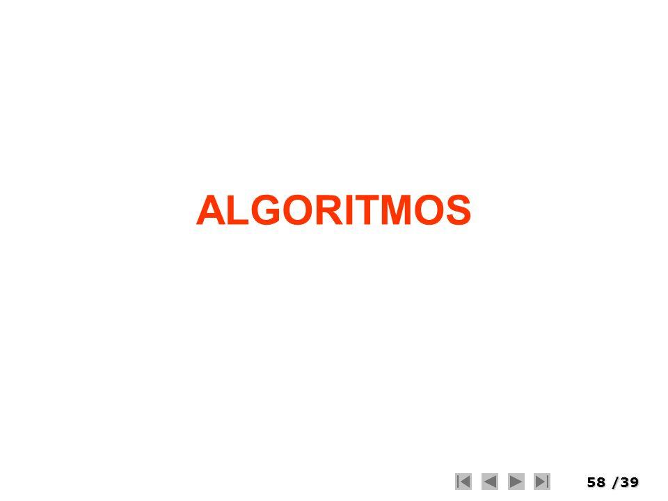 58/39 ALGORITMOS