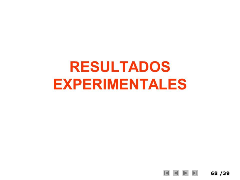 68/39 RESULTADOS EXPERIMENTALES