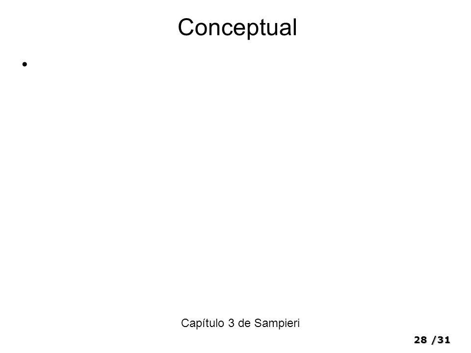 28/31 Conceptual Capítulo 3 de Sampieri