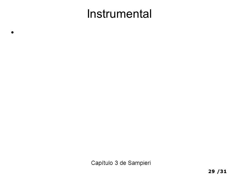 29/31 Instrumental Capítulo 3 de Sampieri