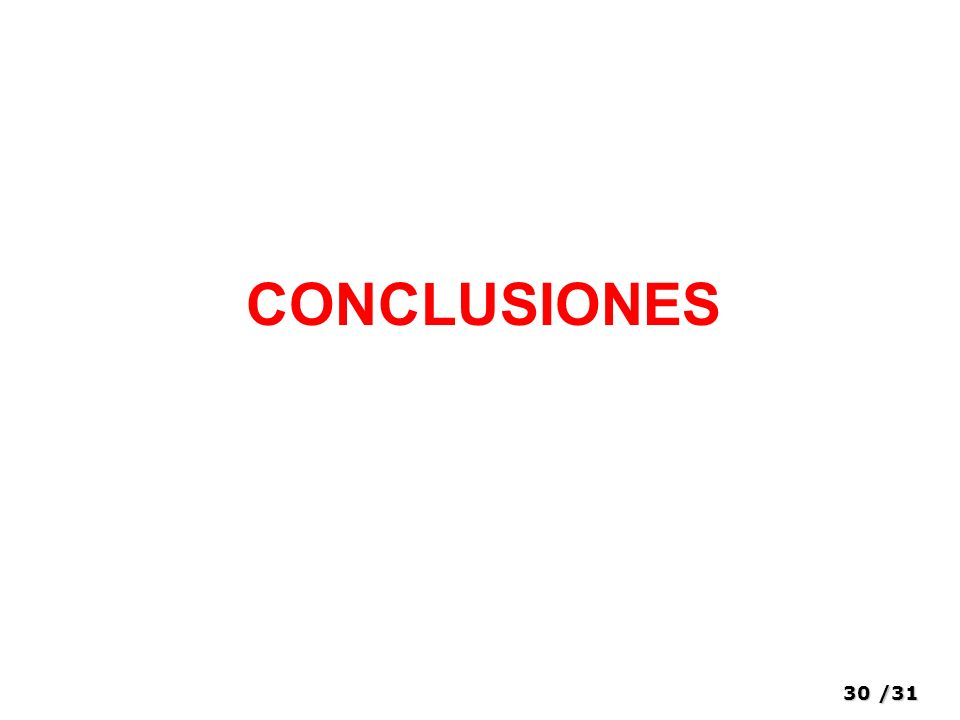 30/31 CONCLUSIONES
