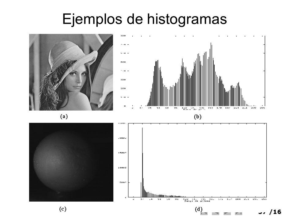 37/16 Ejemplos de histogramas