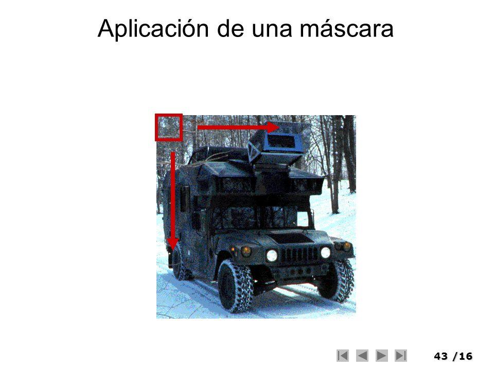 43/16 Aplicación de una máscara