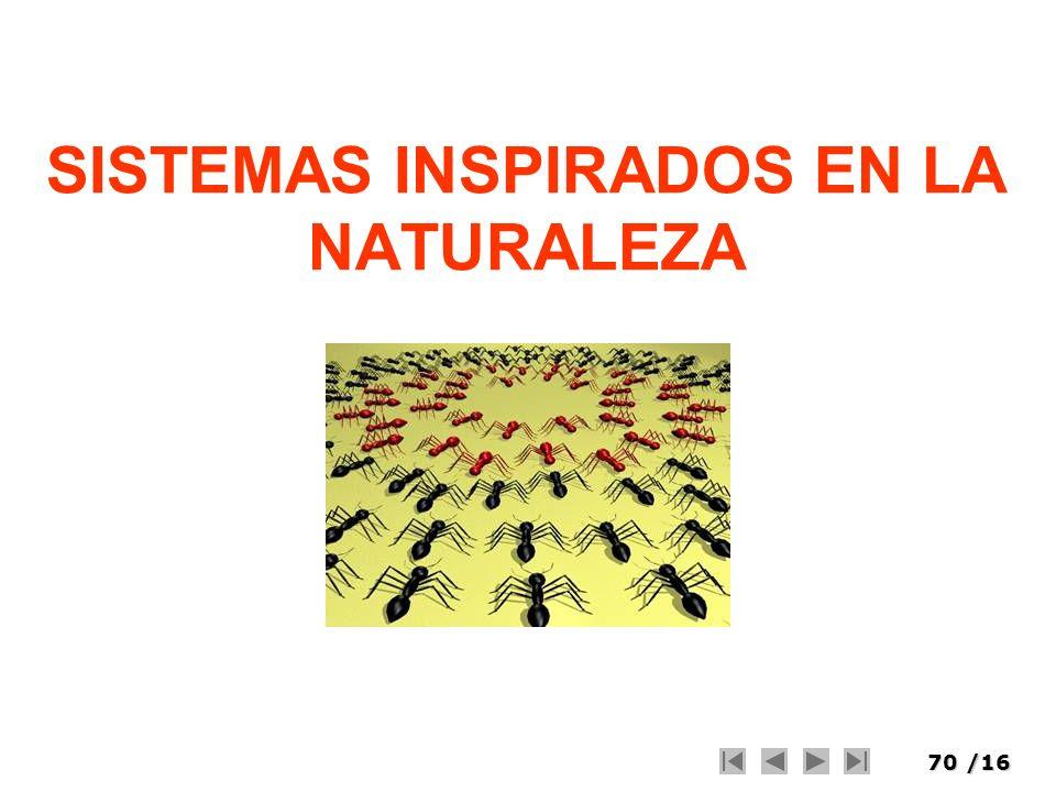 70/16 SISTEMAS INSPIRADOS EN LA NATURALEZA