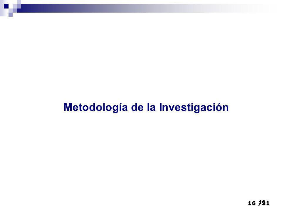 16/31 16 Metodología de la Investigación