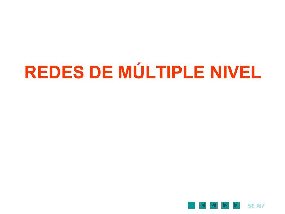 58/67 REDES DE MÚLTIPLE NIVEL