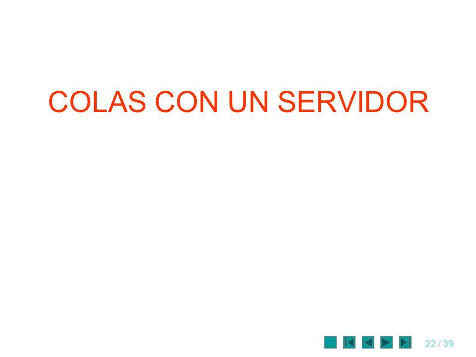 22 / 39 COLAS CON UN SERVIDOR