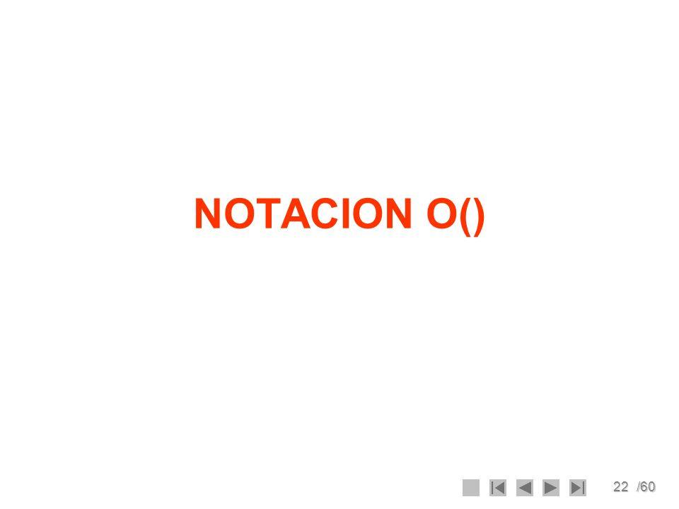 22/60 NOTACION O()
