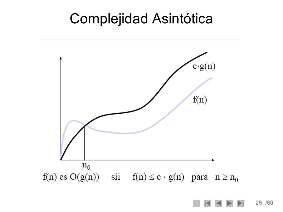 25/60 Complejidad Asintótica