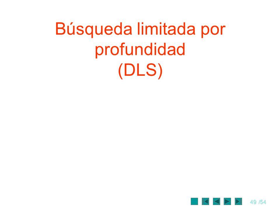 49/54 Búsqueda limitada por profundidad (DLS)