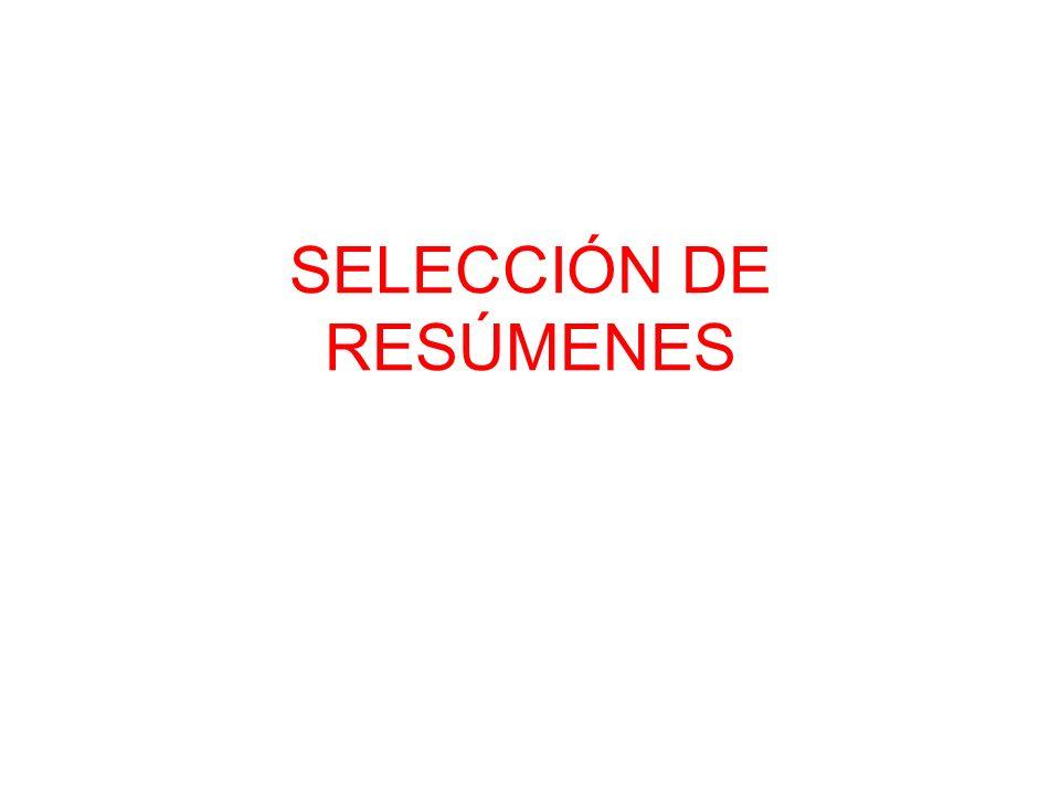SELECCIÓN DE RESÚMENES