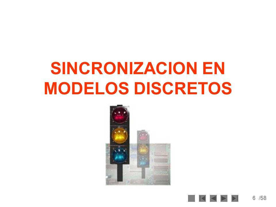 6/58 SINCRONIZACION EN MODELOS DISCRETOS