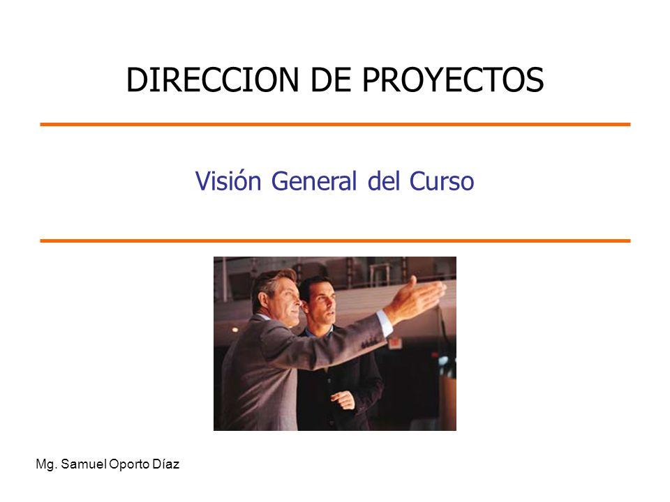 Visión General del Curso Mg. Samuel Oporto Díaz DIRECCION DE PROYECTOS