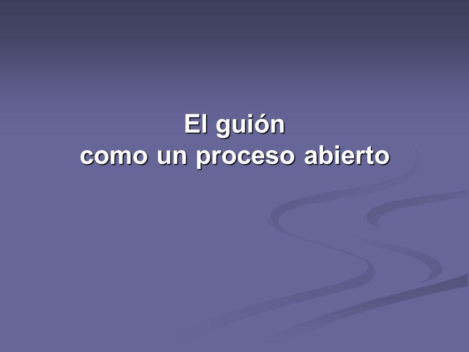 1º PASO tema 2º paso OBJETIVOS 3º paso Guión preliminar 4º paso Guión DOC.