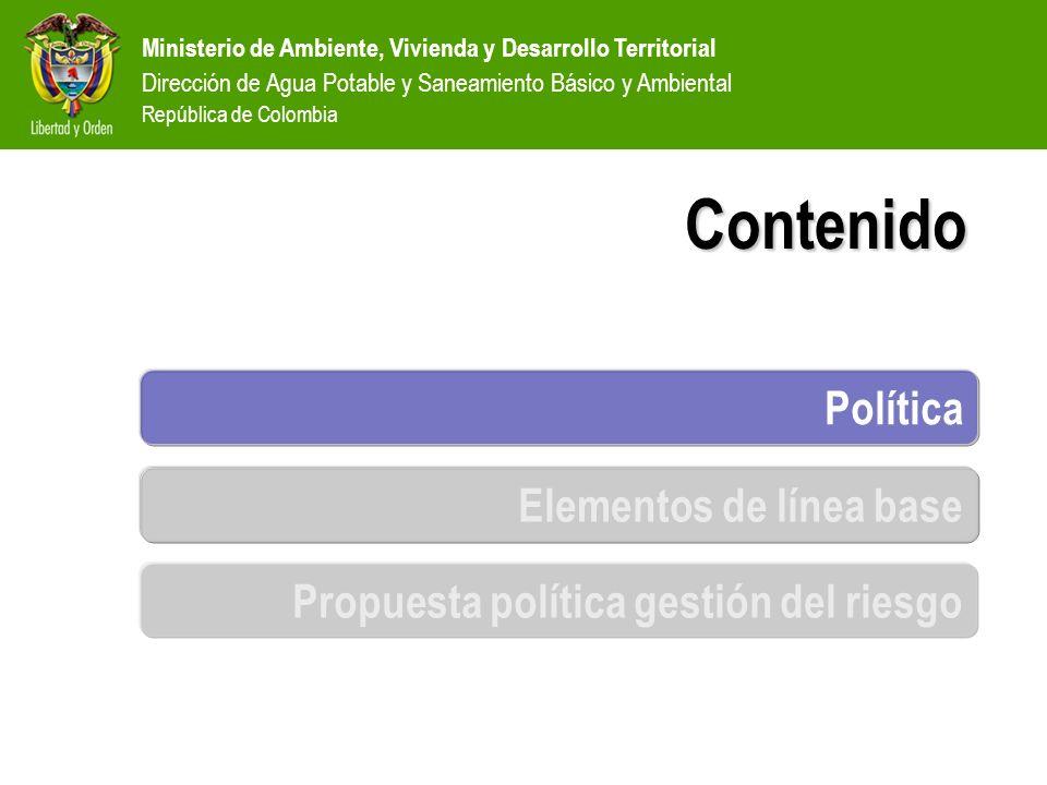 Ministerio de Ambiente, Vivienda y Desarrollo Territorial Dirección de Agua Potable y Saneamiento Básico y Ambiental República de Colombia SISTEMA NACIONAL DE ATENCION Y PREVENCION DE DESASTRES DIRECCIÓN GENERAL DE ATENCIÓN Y PREVENCIÓN DE DESASTRES COMITÉ NACIONAL DE PREVENCIÓN Y ATENCIÓN DE DESASTRES ATENCIÓN DE LA EMERGENCIA INVESTIGACIÓN DEL RIESGO COMITÉ REGIONAL DE PREVENCIÓN Y ATENCIÓN DE DESASTRES COMITÉ LOCAL DE PREVENCIÓN Y ATENCIÓN DE DESASTRES