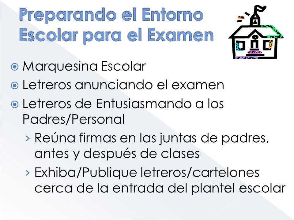 Marquesina Escolar Letreros anunciando el examen Letreros de Entusiasmando a los Padres/Personal Reúna firmas en las juntas de padres, antes y después