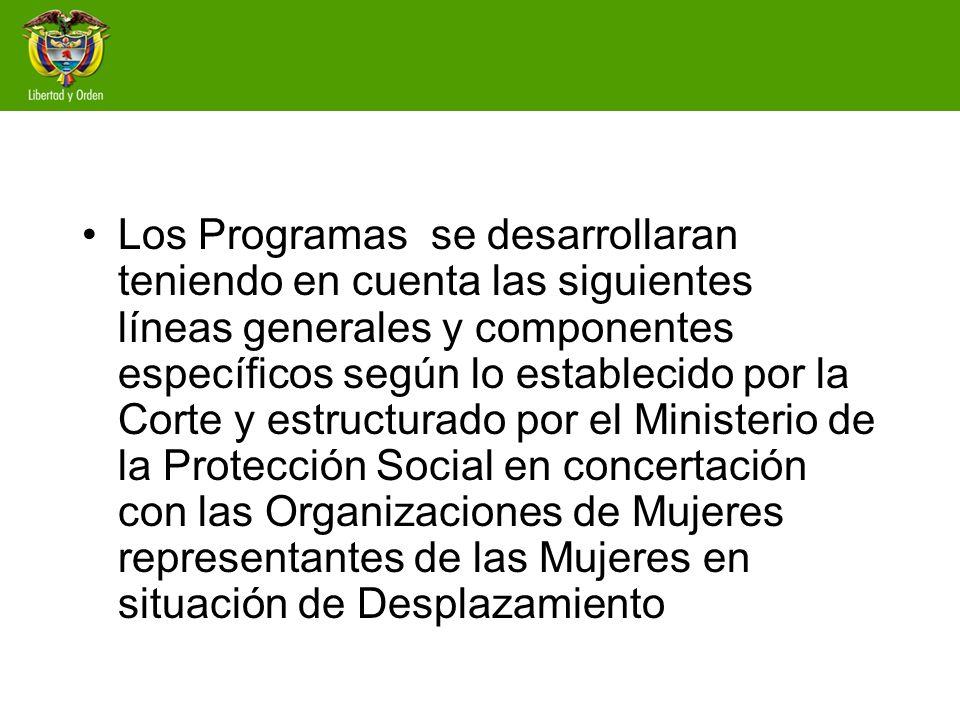 Programa: Abordaje psicosocial a victimas Línea de política sectorial de protección social para población en situación de desplazamient o con enfoque diferencia y subdiferencial
