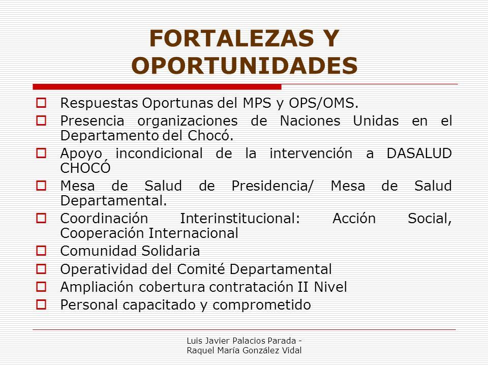 FORTALEZAS Y OPORTUNIDADES Respuestas Oportunas del MPS y OPS/OMS.