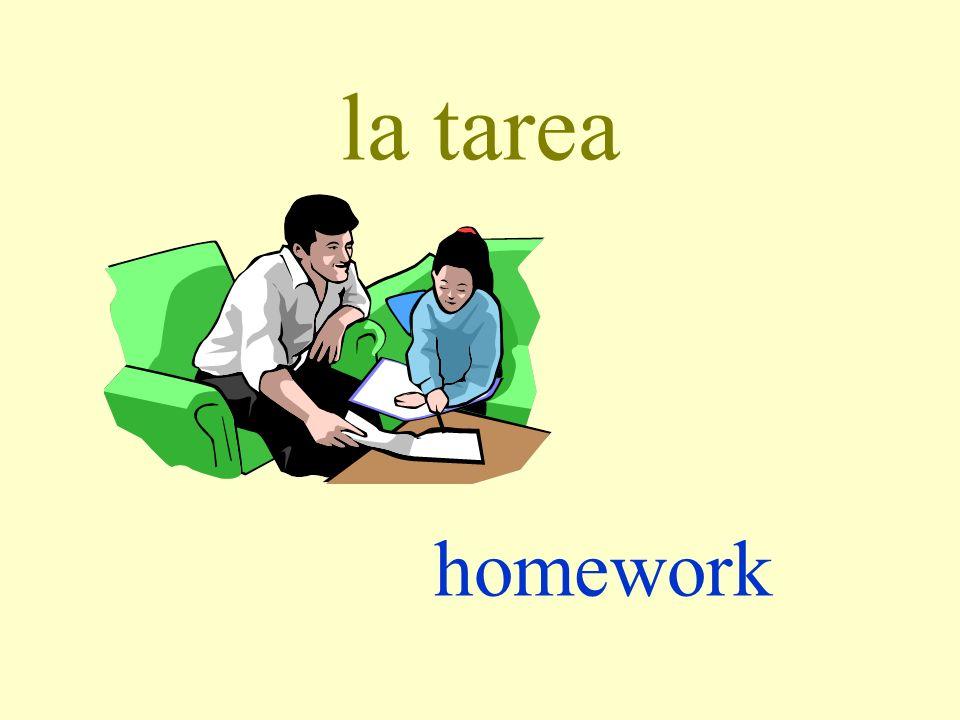 la tarea homework