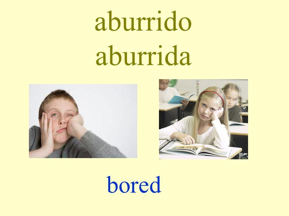 aburrido aburrida bored