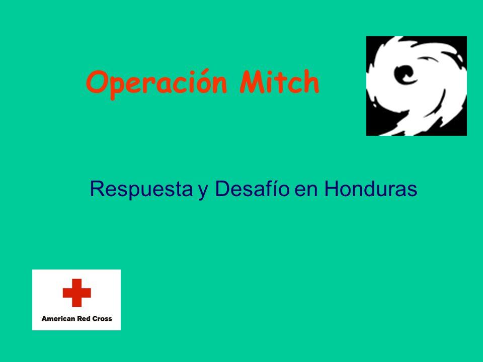 Operación Mitch Respuesta y Desafío en Honduras Esta presentación llevará probablemente a un debate con la audiencia, lo que generará elementos de acc